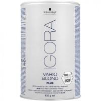 Порошок для волос осветляющий голубой Igora Vario Blond Plus Schwarzkopf, 450 гр