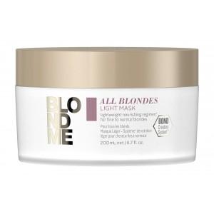 Маска для тонких волос всех типов блонд BlondMe All Blondes Light Mask Schwarzkopf, 200 мл