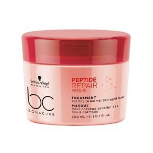 Маска для тонких и нормальных волос BC Peptide Repair Rescue Schwarzkopf, 200 мл