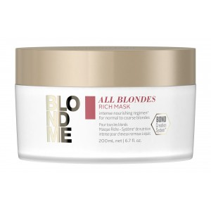 Обогащенная маска для волос всех типов блонд BlondMe All Blondes Rich Mask Schwarzkopf, 200 мл