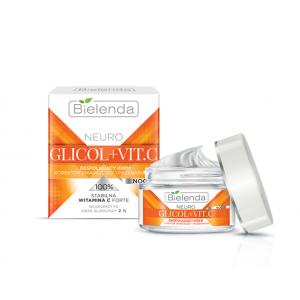 BIELENDA NEURO GLICOL+VIT.C Отшелушивающий крем для лица от морщин ночной, 50 мл