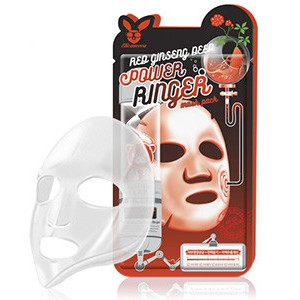 ELIZAVECCA Тканевая маска д/лица с Красным Женьшенем RED gInseng DEEP PQWER Ringer mask, 1 шт