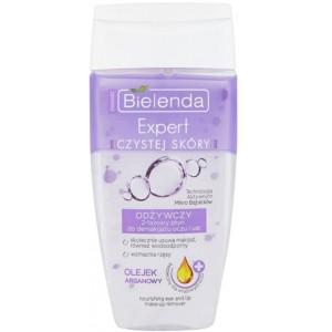 BIELENDA CLEAN SKIN EXPERT Питательное двухфазное средство для демакияжа глаз и губ Аргана, 150 мл