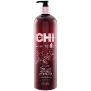 CHI ROSE HIP OIL Color Nurture Protecting Shampoo Шампунь для защиты окрашенных волос с маслом шиповника 340 мл